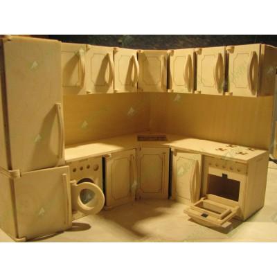 Мебель для кукол кухонная с узором