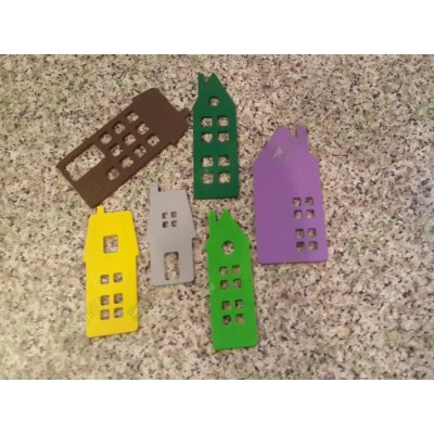 Домики цветные (набор 2)