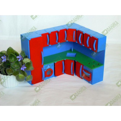 Мебель для кукол кухонная цветная