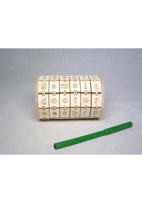 Буквенный цилиндр с английскими буквами (шестиколёсный)