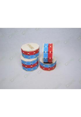 Буквенные цилиндры цветные набор из 4 штук
