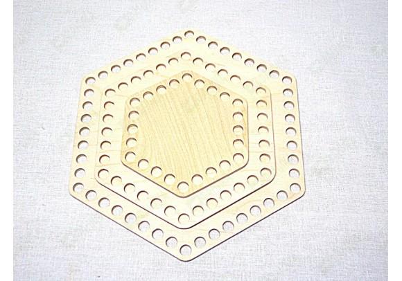 Деревянные донышки шестиугольники для вязания