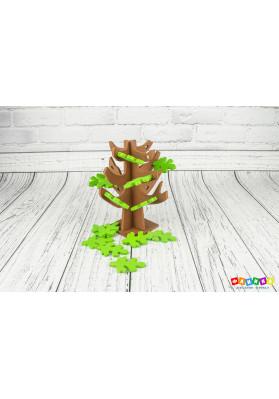 Дубок с листочками цветной