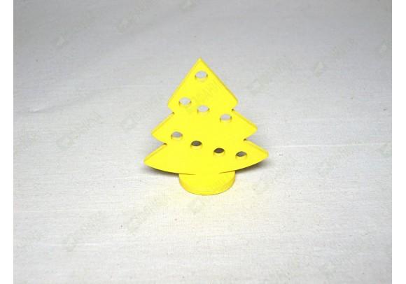 Ёлочка фигурка жёлтая