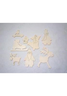 Набор ёлочных фигурок (8 штук)
