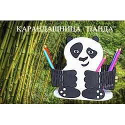 """Карандашница """"Панда"""" цветная"""