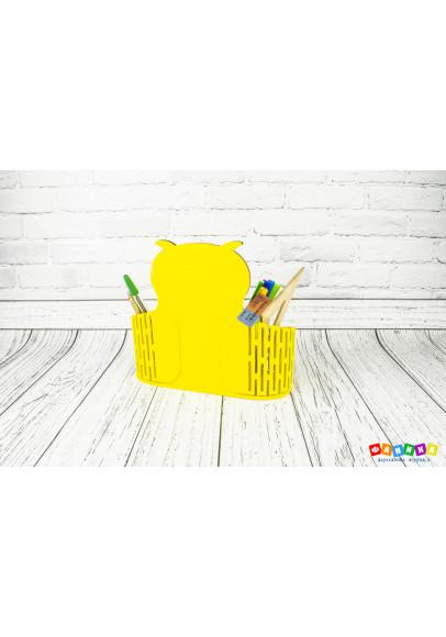 "Карандашница ""Сова"" жёлтая"