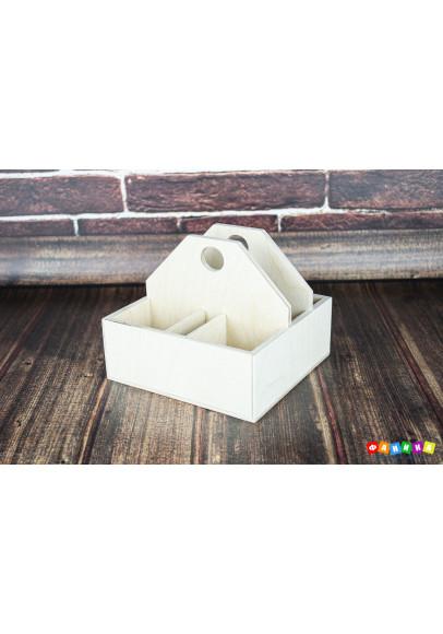 Салфетница с отделами для солонок покрытая лаком