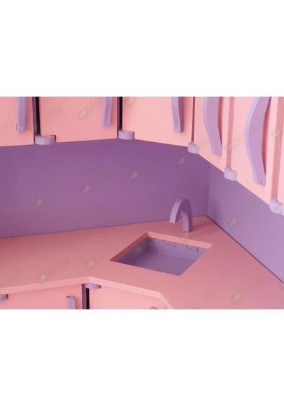 Детская кухня для девочек цветная