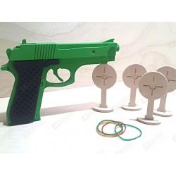 Пистолет стреляющий резиночками (резинкострел) зелёный