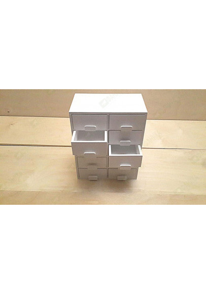 Мини-комод настольный белого цвета