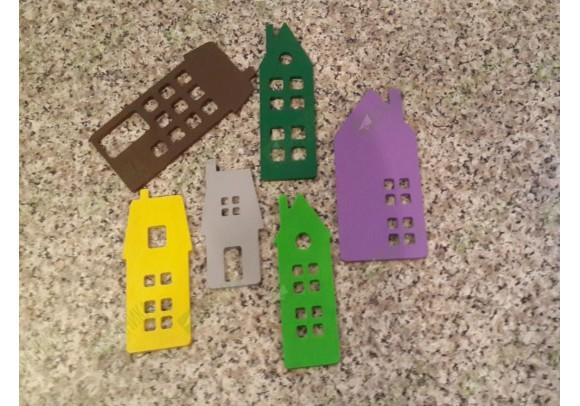Домики для декора цветный (набор 2)