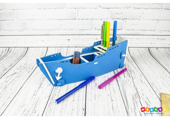 "Карандашница ""Корабль"" цветная"