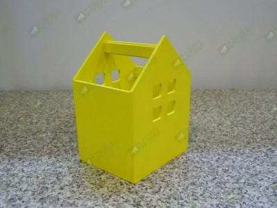 Карандашница Домик жёлтая