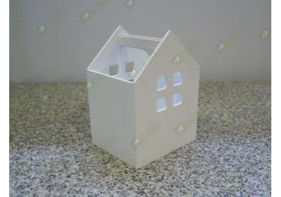 Карандашница Домик белая