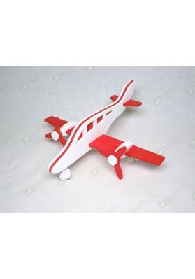 Самолет двухмоторный Вираж красно-белый