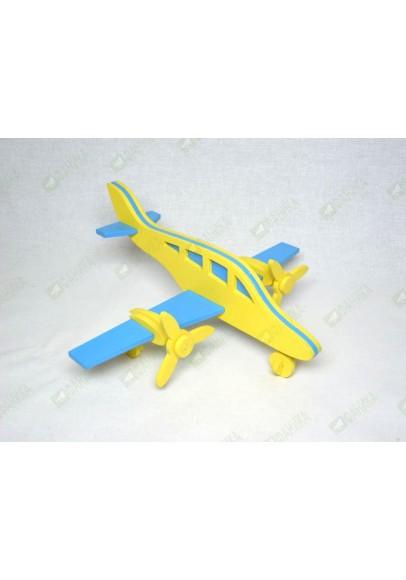 Самолет двухмоторный Вираж желто-синий