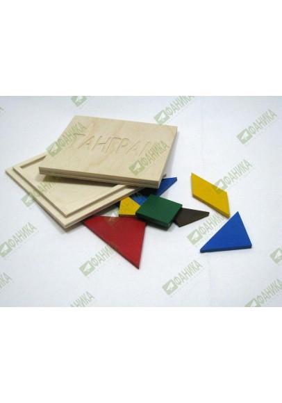 Танграм цветной в коробке