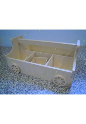 Ящик переноска с колёсиками (органайзер)