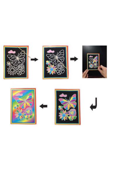 Цветная гравюра и раскраска Домик