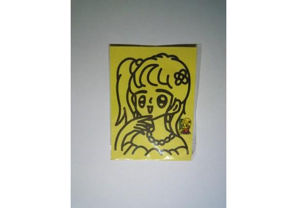 Рисунок песком мини Девочка с ожерельем