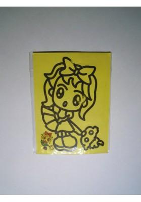 Рисунок песком мини Девочка с собачкой