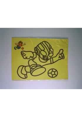 Рисунок песком Футболист